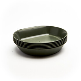 Wildo Camper Plate Deep Set Unicolor 6-Pieces, olive